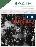 Boletín del Aula Canaria de Investigación Histórica (BACIH) Extraordinario nº 1. Encuentro II República en Canarias
