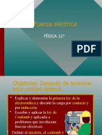 FUERZA ELECTRICA  PPT