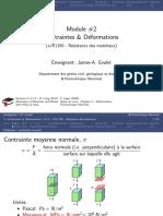 Contraintes Et Déformation_models 2d Et 3d