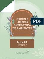 Resumo_Aula 1_Ordem e Limpeza Energética de Ambientes