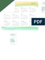 Calendário 2020 Modelo