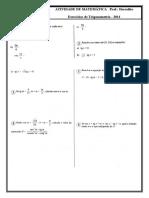 Exercício de Trigonometria 2011