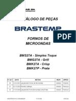 Forno de Microondas Brastemp BMS27A (explodida)