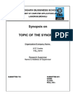 Guidelines for Synopsis & Projects
