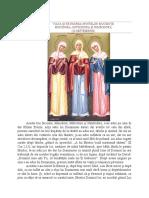 VIAȚA ȘI PĂTIMIREA SFINTELOR MUCENIȚE 10 sept