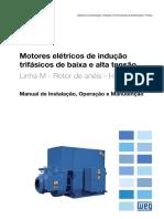 WEG Manual - Motores de Inducao BT-At Rotor de Anéis (MAF) - PT-BR
