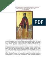 Viața Și Ostenelile Cuvioasei Maicii Noastre Teodora 11 Septembrie
