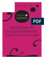 Attitudes et comportements  comprendre et changer