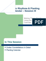Cosmic Rhythms - Session 3 - Planting Calendar