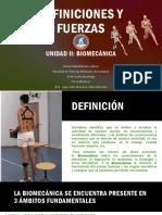 DEFINICIÓN DE FUERZA -BIOMECÁNICA-