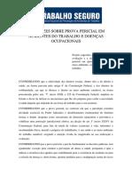 Diretrizes Sobre Prova Pericial Em Acidentes e Doenças Ocupacionais - Programa Nacional de Prevenção de Acidentes de Trabalho