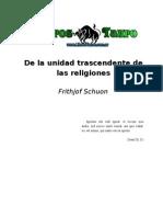 Schuon, Frithjof - De La Unidad Trascendente de Las Religiones