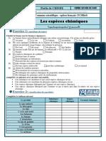 1 EXERCICES les espèces chimiques TCSbiof (www.pc1.ma)