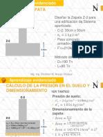 S9 Dimensionamiento de Zapatas Solución