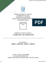Planilla de Derecho a Grado OCRE-ULA yenny araujo