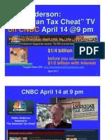 Walt Anderson Tax Evader on CNBC 9 Pm April 14 2011