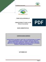 Bases + Tdr Construcción Puente Rio Cancha Corral