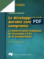 Le Développement Durable Comme Compromis La Modernisation Écologique de Léconomie à Lère de La Mondialisation by Corinne Gendron (Z-lib.org)
