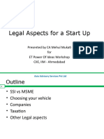 Legal Aspects for a Start Up