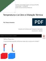 Encontro 03 - Temperatura e Lei Zero e Dilatação Térmica