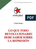 Lo que todo revolucionario debe saber sobre la represión (Victor Serge)