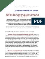Six Things Guaranteeing Jannah