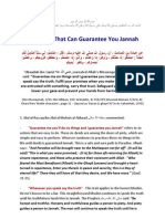 Six Things Guaranteeing Jannah