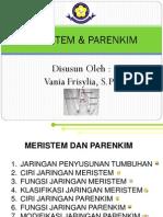 Bahan Ajar Meristem & Parenkim Vania F.,S.Pd