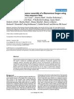de novo genome sequence assembly of a filamentous fungus using Sanger, 454, and Illumina seq data