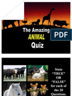 The Amazing Animal Quiz