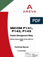 P14x_EN_M_B64 AREVA MICOM P143 Manual
