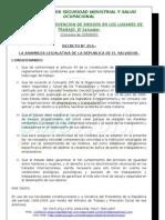 Ley General de Prevencion de Riesgos en los Lugares de Trabajo - Curso Comités de Seguridad y S. O - CONSISO El Salvador