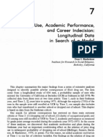 Drug Use, Academic Performance, and Career Indecision