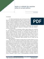 Henkel A categorização e a validação das respostas abertas em surveys políticos