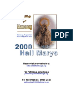 Our Lady of Manaoag - 2000 Hail Marys