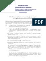 Directive sur la révélation erreurs et inexactitudes au CDVM