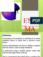 ENEMA ADMINISTRATION