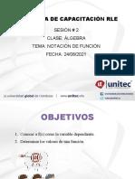 Dia 1y2 - Sesion #2- NOTACIÓN DE FUNCIÓN