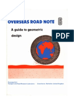 Overseas Road Note 6 a Guide to Geometric Design - 1988