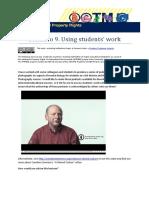 IPR4EE Scenario 9 - Using Student Work