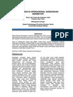 Studi Biaya Operasional Kendaraan (BOK) Bermotor