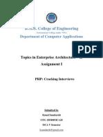 Topics in Enterprise Architecture II