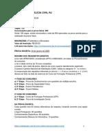 Edital Inspetor de Polícia Civil Do Rio de Janeiro 2021