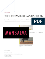 Tres poemas de Mariano Blatt - Editorial Mansalva