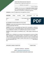 CONTRATO PARA PRESTACION DEL PRODUCTO margarita