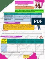 Eda 5 Ficha de Aprendizaje (Actividad 3) - Vii Ciclo