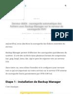 Serveur dédié _ sauvegarde des fichiers avec Backup Manager _ SkyMinds.Net