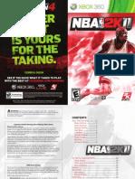 NBA2K11 Manual
