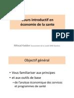 1- Introduction à l'Économie de Santé