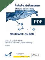 MAX BRAND Ensemble Konzert in Klosterneuburg